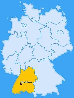 Karte von Glatten