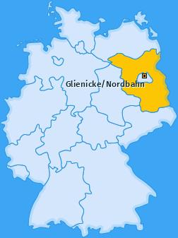 Karte von Glienicke/Nordbahn