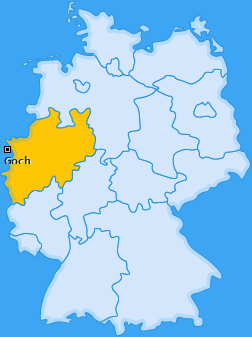 Karte von Goch