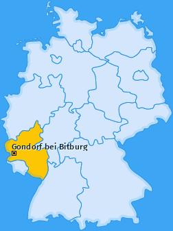 Karte von Gondorf bei Bitburg