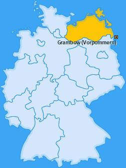 Karte von Grambow (Vorpommern)