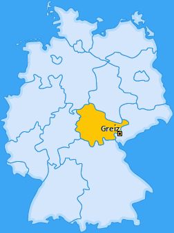 Karte von Greiz