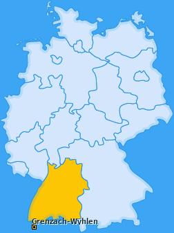 Karte von Grenzach-Wyhlen
