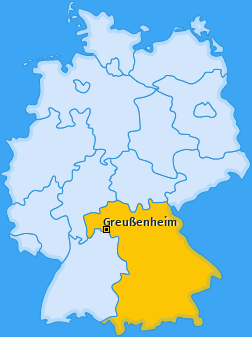 Karte von Greußenheim