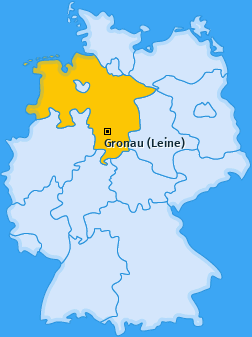 Karte von Gronau (Leine)