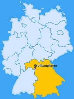 Karte von Großlangheim
