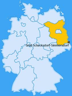 Karte von Groß Schacksdorf-Simmersdorf