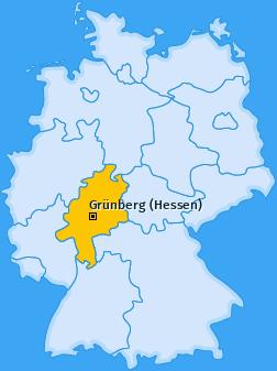 Karte von Grünberg (Hessen)