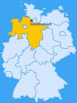 Karte von Grünendeich