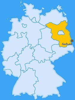 Karte von Guben