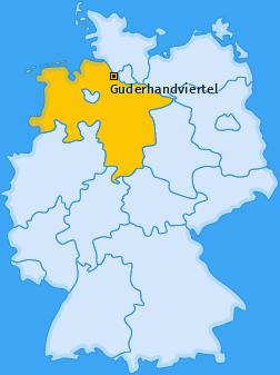 Karte von Guderhandviertel