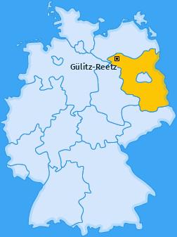 Karte von Gülitz-Reetz