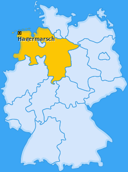 Karte von Hagermarsch