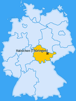 Karte von Hainichen (Thüringen)