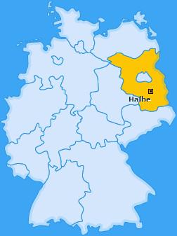 Karte von Halbe