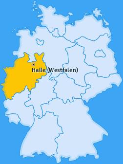 Karte von Halle (Westfalen)