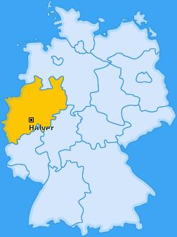 Karte von Halver