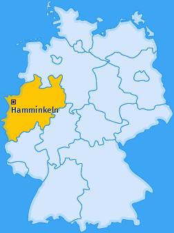Karte von Hamminkeln