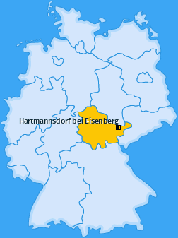Karte von Hartmannsdorf bei Eisenberg