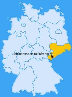 Karte von Hartmannsdorf bei Kirchberg
