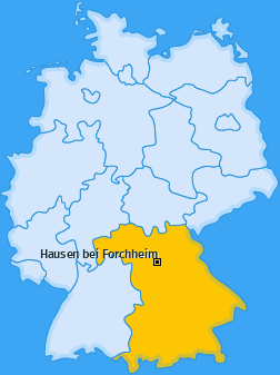 Karte von Hausen bei Forchheim