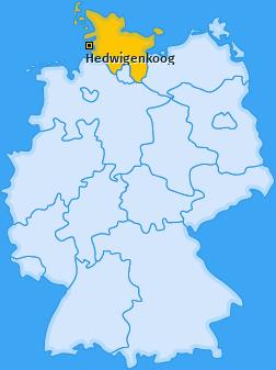 Karte von Hedwigenkoog