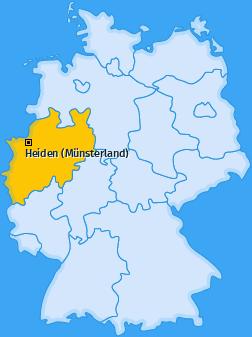 Karte von Heiden (Münsterland)