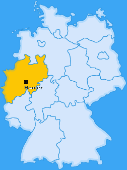 Karte von Hemer