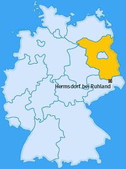 Karte von Hermsdorf bei Ruhland