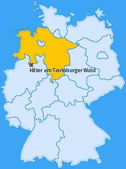 Karte von Hilter am Teutoburger Wald