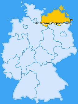 Karte von Hintersee (Vorpommern)