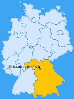 Karte von Höchstadt an der Aisch