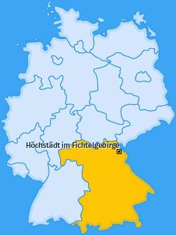 Karte von Höchstädt im Fichtelgebirge