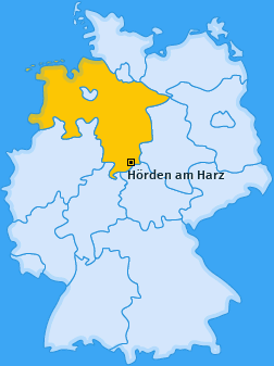 Karte von Hörden am Harz