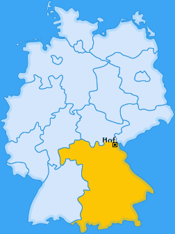 Karte von Hof