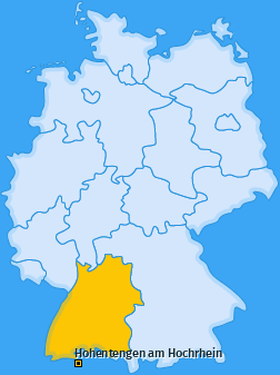Karte von Hohentengen am Hochrhein
