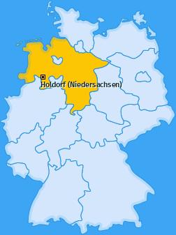 Karte von Holdorf (Niedersachsen)