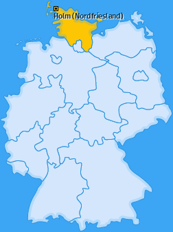 Karte von Holm (Nordfriesland)