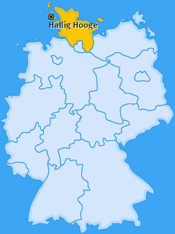 Karte von Hallig Hooge