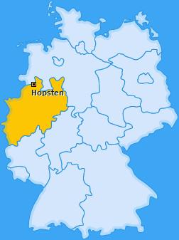 Karte von Hopsten