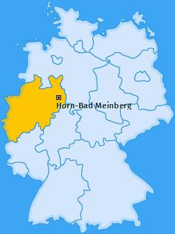 Karte von Horn-Bad Meinberg