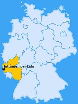 Karte von Hüttingen bei Lahr