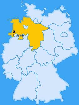 Karte von Hüven
