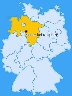 Karte von Husum bei Nienburg