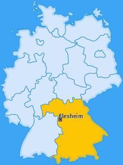 Karte von Illesheim