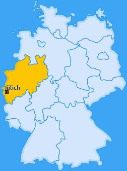 Karte von Jülich
