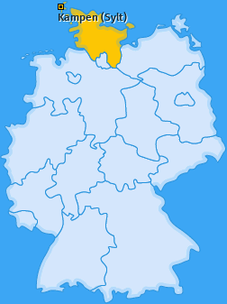 Karte von Kampen (Sylt)