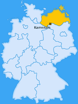 Karte von Karrenzin