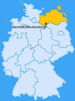 Karte von Karstädt (Mecklenburg)