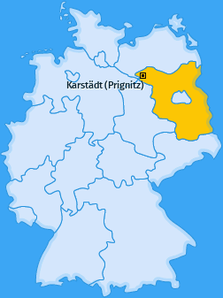 Karte von Karstädt (Prignitz)